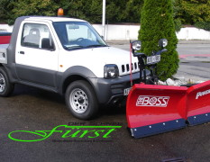THE BOSS 200cm V-Pflug an SUZUKI Jimny PickUp