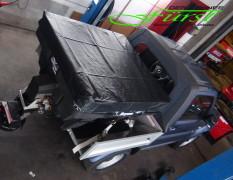 Suzuki Jimny PickUp mit Buyers SaltDogg Aufbaustreuer - Draufsicht