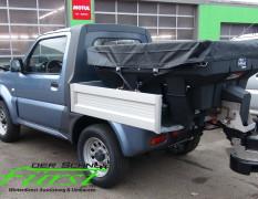 Suzuki Jimny PickUp mit Buyers SaltDogg Aufbaustreuer