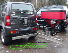 SUZUKI Jimny Winterdienstfahrzeug mit Edelstahl-Schwenkkonsole