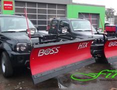 SUZUKI Jimny Winterdienstfahrzeuge mit THE BOSS HTX Schneeschildern
