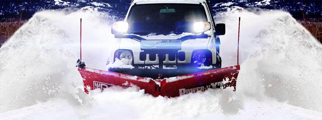 Winterdienst mit THE BOSS ideal für den gewerblichen und kommunalen Einsatz