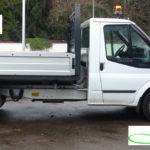Ford Transit als Winterdienstfahrzeug gegen Eis und Schnee