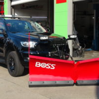 Ford Ranger Limited Black Edition mit THE BOSS V-Pflug