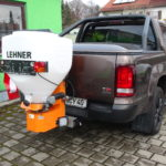 LEHNER 170 Liter Streuer mit separat einstellbarer Wurfweite und Fördermenge