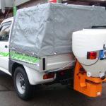 SUZUKI Jimny PickUp Räumfahrzeug mit LEHNER-Streuer