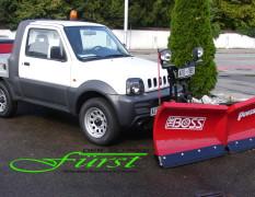 THE BOSS 200cm V-Pflug an SUZUKI Jimny PickUp