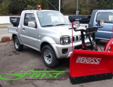 Suzuki Jimny PickUp mit THE BOSS Sport Duty 200cm V-Pflug