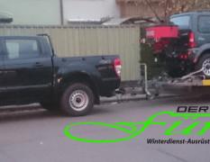 Transport Winterdienstfahrzeug zum Kunden