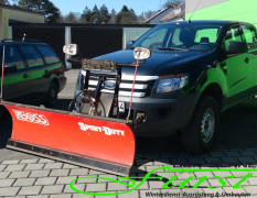Ford Ranger mit THE BOSS SportDuty Schneepflug 215cm