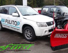 Suzuki Grand Vitara mit 200cm THE BOSS V-Üflug und TGS600 Heckanbaustreuer