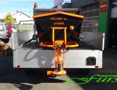 LEHNER Polaro mit abgeklappter Schütte - so wird aus einem Movano ein Streufahrzeug
