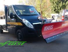 Opel Movano und THE BOSS Schneeschild