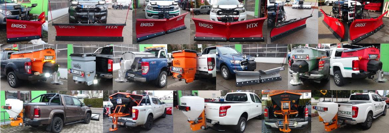 PickUp Winterdienstausrüstung von THE BOSS, HILLTIP und LEHNER_Schneeschilder, Schneepflüge, Heckanbaustreuer, Aufbaustreuer, Winterdienst