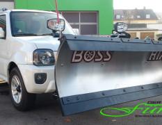 SUZUKI Jimny und THE BOSS HTX Schneeschild aus Edelstahl