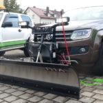VW Amarok mit geradem THE BOSS 215 cm Edelstahl Schneeschild