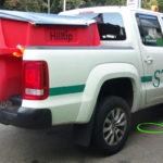 HILLTIP IceStriker 550 mit 630 Liter Volumen in Rot auf VW Amarok Doppelkabine