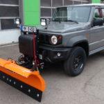 HILLTIP SnowStriker Schneeschild in Orange mit Schneedeflektor an SUZUKI Jimny FG Automatik