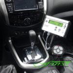 Innenraum Nissan Navara mit THE BOSS Tastenfeld-Steuerung sowie Bedienpult für den LEHNER POLARO 170 E