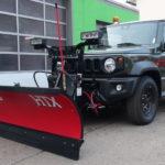 THE BOSS HTX Schneeschild mit 185cm Breite an neuem SUZUKI Jimny Automatik